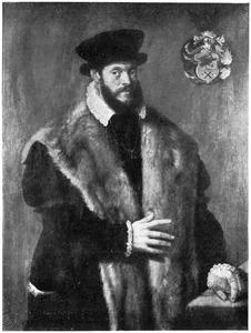 Portret van een man met een bontmantel