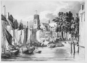 Gezicht op de haven in Rotterdam