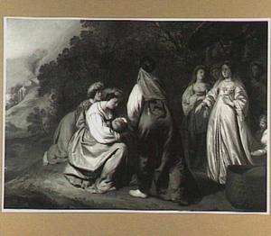 Mozes wordt gevonden door de dochter van de farao (Exodus 2:1-10)