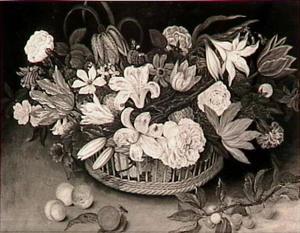Bloemstilleven met vruchten