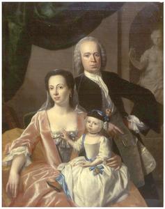 Portret van Francina Margaretha Sichterman, haar man Scato Gockinga en hun zoon