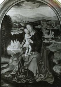 Madonna met Kind in een landschap