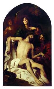De bewening van Christus, mogelijk met zelfportret