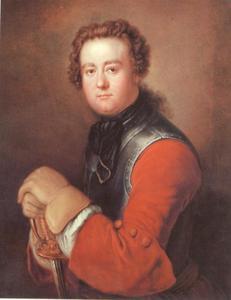 Portret van de architect Georg Wenzeslaus von Knobelsdorff (1699-1753)