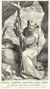 De Heilige Franciscus met crucifix