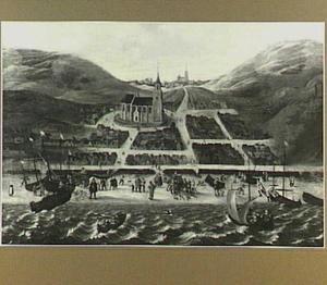 Scheveningen vóór de Allerheiligenvloed van 1 november 1570