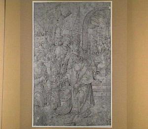 Jozef ontvangt Benjamin en zijn andere broeders en onthaalt ze op een feestdis (Genesis 43)