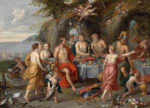 Het feestmaal van Achelaos (Ovidius, Metamorfosen VIII: 547-573)