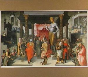 Nebukadnessar eist van zijn astrologen en tovenaars een verklaring voor zijn droom over het grote standbeeld  (Daniël 3:2-3)