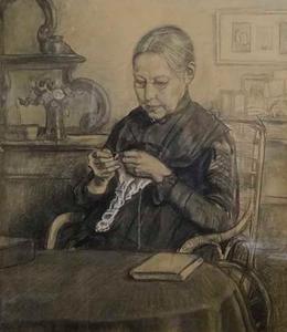 Handwerkende vrouw