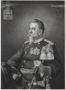 Portret van Alexander Jacob Marie Bake (1851-1909)