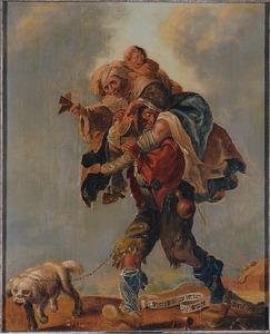 Allegorie van de armoede: t Syn ellendige beenen die armoe moeten dragen