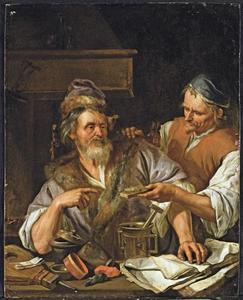 Twee alchemisten in een interieur