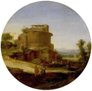 Zuidelijk landschap met ruïne