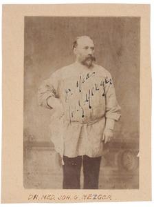 Portret van Johann Georg Mezger (1838-1909)