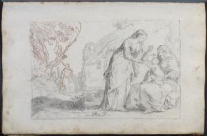 Heilige Anna te drieën met Jozef in de achtergrond (?)