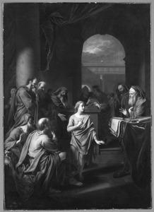 De twaalfjarige Jezus in de tempel met de schriftgeleerden