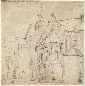 Nijmegen, tweede binnenplaats van het Valkhof met de absis van de St. Maartenskapel
