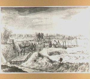 De voorpoort van de Rijnpoort te Arnhem