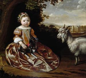Portret van een meisje, mogelijk Beerta Elisabeth Gockinga (1654-1711)
