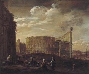 Gezicht op het Colosseum te Rome