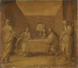 Salome brengt het hoofd van Johannes de Doper