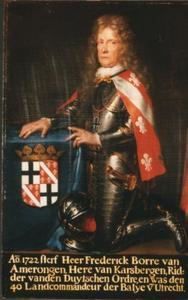 Portret van Frederik Borre van Amerongen, heer van Karsbergen (1638-1722)