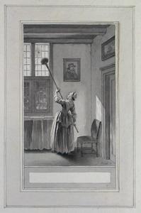 Illustratie bij 'De spin' uit de Fabelen en vertelsels van F.C. Gellert