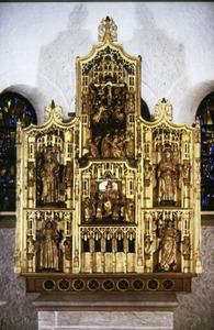 Heiligenretabel met de Gregoriusmis