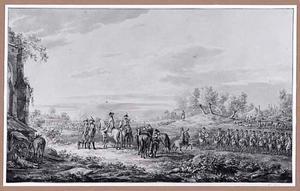 Cavalerie in landschap