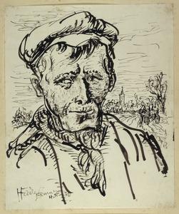 Portret van boer uit Eemnes
