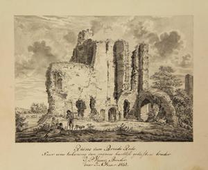 De ruïne van kasteel Brederode gezien vanuit het zuidwesten
