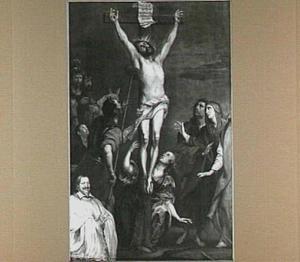 De kruisiging van Christus met de donor, Arnold von Vittinghoff, proost van de St. Mauritz in Münster