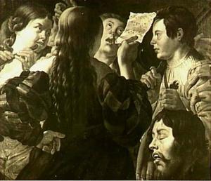 De vrouwen van Israel halen David in met zang en dans na zijn overwinning op Goliat (1 Samuel 18:6-7)