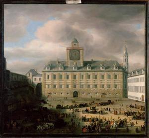 Gezicht op de Hofburg te Wenen