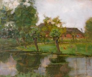 Farmstead with Willows on the Water III