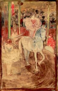 Meisje op ongezadeld paard