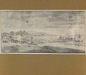 Napels, gezicht op de stad vanaf Mergellina