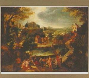 Landschap met het oordeel van Midas (Ovidius, Metamorfoses, XI: 146-193)