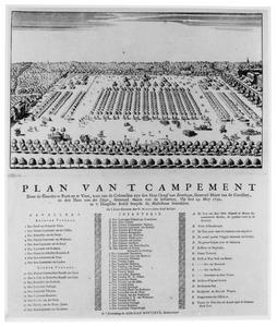 Campement van gardes cavallerie en infanterie, op 29 mei 1742 ingericht op het Malieveld te Den Haag