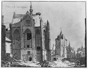 De ruïne van de kasteelkapel te Grave na het beleg van oktober 1674