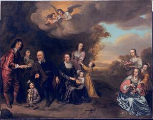 Portret van Pieter Stalpart van der Wiele (1597-1660) en zijn gezin