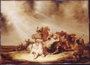 De bekering van Paulus op weg naar Damascus