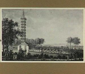 Kasteel Schoonenberg in Laken, Chinese toren, afgebroken in 1803