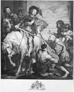 De Heilige Martinus van Tours deelt zijn mantel met een bedelaar