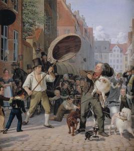 Straatscène tijdens de hondsdagen