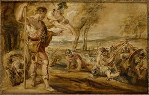 Cadmus zaait drakentanden (Ovidius, Metamorfosen, III, 95-114)