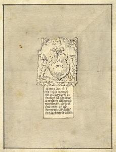 Fundatiesteen van de Smeetoren te Utrecht, bestaande uit een wapen met een latijns onderschrift