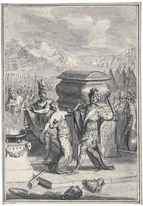 Het offer van Polyxena door Neoptolemus op het graf van Achilles