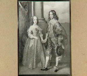 Dubbelportret van Willem II van Oranje-Nassau (1626-1650) en Henriëtta Maria Stuart I (1631-1661)